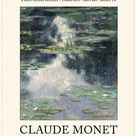 Claude Monet, Claude Monet exhibition poster, GALLERY EXHIBITION POSTER: Vintage Art Print, Monet Style Poster Modern Art, Conterporary Art