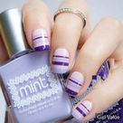 Lilac Striped Nails