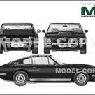 Aston Martin V8 Vantage 1977   2D drawing blueprints   22494   Model COPY   English