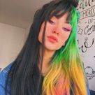 Rainbow Hair 🌈  discovered by 𝐂𝐨𝐧𝐧𝐢 on We Heart It
