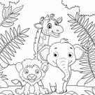 Malvorlage wilde Tiere - Kostenlose Ausmalbilder