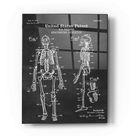 Epic Art 'Anatomical Skeleton Blueprint Patent Chalkboard' Acrylic Glass Wall Art - 16x24
