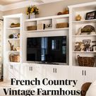 French Country Vintage Farmhouse Fall Decorating