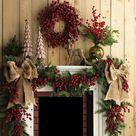 Christmas Fireplace Mantels