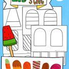 Eis basteln, Eis am Stiel, Kunst Sommer Eis – Unterrichtsmaterial im Fach Kunst