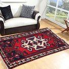 2x4 Afghan Rug, Vintage Rug, Turkish Rug, Small Rug, Boho Rug, Mini Rug, Hand Knotted Medallion Rug, Home Decor Rug, 117 x 70 cm FREE SHIP