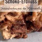 Tassenkuchen Aus Der Mikrowelle Mit Schokolade Und Erdnuss