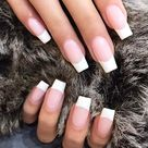 Pia Mia Perez Clear, White French Manicure Nails   Steal Her Style