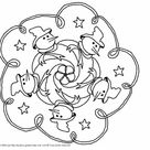 Coloriage Mandala Noel magique dessin gratuit à imprimer