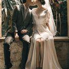 Simple Soft Satin Wedding Dress Off Shoulder Wedding Gown   Etsy