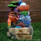 Wohnzimmer  | Wasserfall Brunnen Ornamente mit Elefant - Büro Wohnzimmer Dekoration | Haus und Garten Dekoration Günstig Online Kaufen