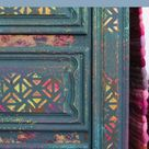 Bohemian Furniture Painting Tutorial With Color and Texture
