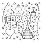 February Coloring Page • FREE Printable eBook