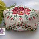 Counted Cross stitch all included kit for Peony Biscornu | Etsy