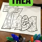 Thea Name Coloring Page