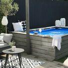 Pool Umrandung für einen Aufstellpool