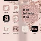 Ios 14 Pink Sparkles App Icons  Glitter Pink Cream Black   Etsy