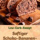 Schneller, saftiger Low Carb Schoko Bananen Kuchen   Rezept ohne Zucker