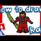 How To Draw Kai From Ninjago - Art For Kids Hub -