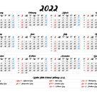 Weekly Printable Calendar 2022