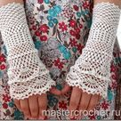Crochet Gloves + Pattern Step By Step + Diagram
