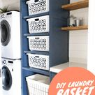 DIY Laundry Basket Tower - Honey Built Home