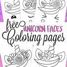 Unicorn Faces Coloring Pages for Kids - Fun for Little Ones