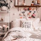 Chill Here Black and White Double Sided Faux Suede Square Pillow
