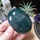 Moss Agate Crystal Palm Stone - Moss Agate Polished Crystal - Moss Agate Crystal - Crystal Decor - Crystal Healing - Crystal Collection -MA2