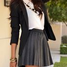 Black Pleated Skirt