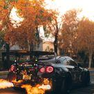 Fire Nissan GTR