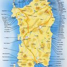 Tutte le spiagge della Sardegna, mappa dettagliata.