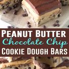 No Bake Peanut Butter Chocolate Chip Cookie Dough Bars