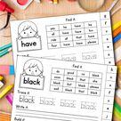 FREE Sight Word Activities for Kindergarten and Preschool.