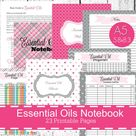 Essential Oils Planner, Essential Oil Notebook, Essential Oil Printable, Young Living, Doterra, Essential Oil Recipe Keeper, Oil Binder, A5
