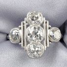 Sold at auction Art Deco Platinum and Diamond Ring Auction Number 2529B Lot Number 834   Skinner Auctioneers