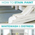 How to Paint, Stain, Whitewash & Distress a Fancy X Farmhouse Table by Ana White - Building Our Rez