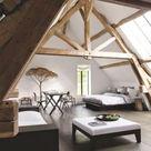 59 Vintage Attic Bedroom with Wall of Skylights ~ GODIYGO.COM