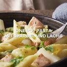One Pot Pasta mit Spargel und Lachs