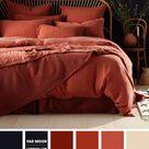Blackberry and Dark Terracotta Bedroom Color Combos
