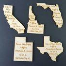 50 Save the Date Wedding Favor, Maryland Wedding Favor State Magnets - Bride, Groom, Gift, Rustic, Custom, United States Magnets