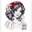 Princess Snow White Counted Cross Stitch Pattern