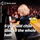 Music Busted - 5-year-old child shocks the whole hall!   Facebook