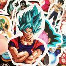 50pcs Dragon Ball Z Goku Vinyl Decal Stickers   Etsy