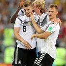 Toni Kroos of Germany Julian Brandt of Germany Joshua Kimmich of...