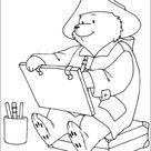 Kleurplaat van Beertje Paddington tekent