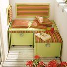 Mit Gratis-Anleitung: Sitzbank mit Stauraum für deinen Balkon!