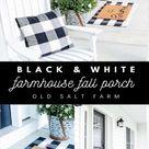 Farmhouse Fall Porch: Black & White