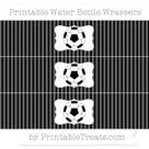 Free Black Thin Striped Pattern  Soccer Ball Water Bottle Wrappers