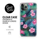 Flowers case Floral Pattern Gift for her Transparent Clear Ruber with hragmental design print for iPhone SAMSUNG & HUAWEI phone cover X7